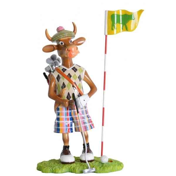 Vache figurine putting golfer Art in the City -84149