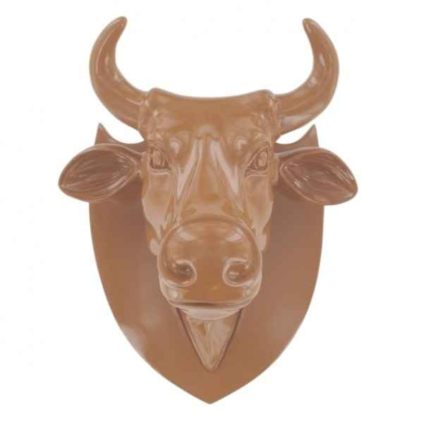 Vache tete marron Art in the City -80989