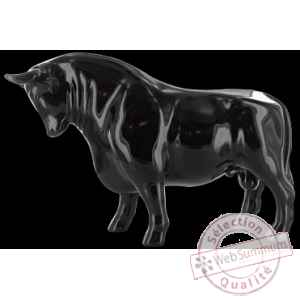 Figurine Taureau black bull 31cm Art in the City 80715