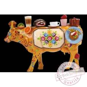 Figurine Vache enjoy the good things in life 32cm Art in the City 80644