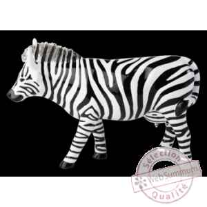 Figurine Vache zebra 15cm Art in the City 80831