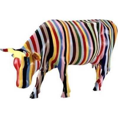 Video Cow Parade -New York 2000, Artiste Cary Smith -Striped-41255