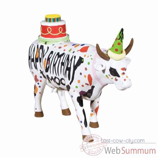 Figurine vache large happy birthday CowParade -GM46778 -2