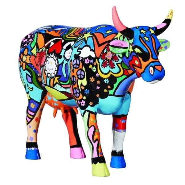 Figurine vache cowparade moosy in the sky with diamonds gm -46786