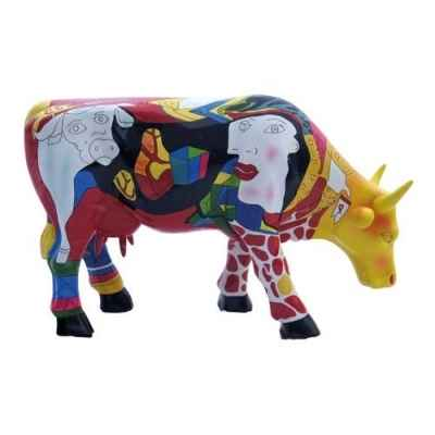 Vache micro moo hommage to picowso\\\'s african period CowParade -49900