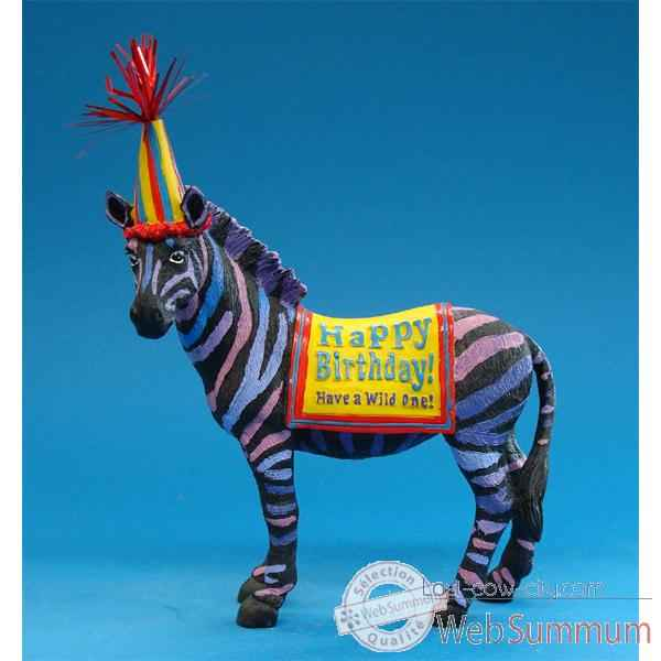 Video Figurine Anniversaire Zebre -HB16929