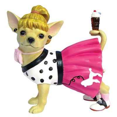 Figurine Chien Chihuahua Sock Hop -CHI13357