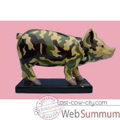 Figurine Cochon - Party Piggies - Couchon Camouflage - PAP02