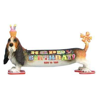 Video Figurine Basset Anniversaire -HB16902