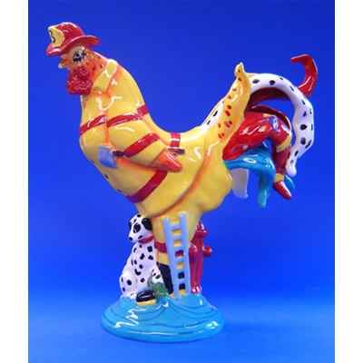 Figurine Coq - Poultry in Motion - Firehouse Chicken - PM16297