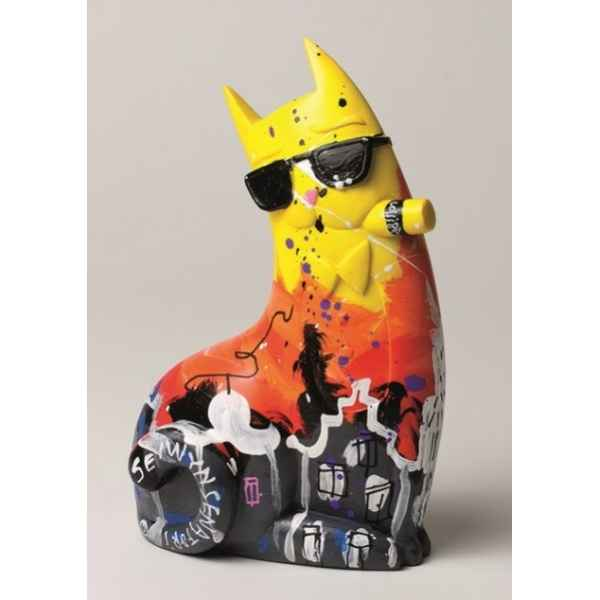Figurine bruno, big city chat jaune de selwyn senatori -ST00614