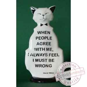 Figurine chat - wild cat i must be wrong - wic02