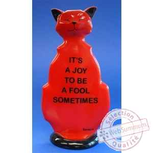 Figurine chat - wise cat to be a fool - wic08