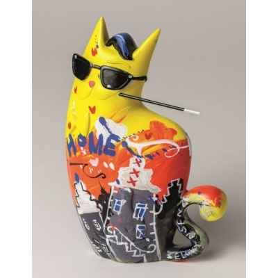 Figurine zatti, big city chat jaune de selwyn senatori -ST00613