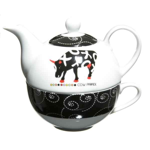 Repose the en porcelaine Vache Black Cow -blckRTHEL