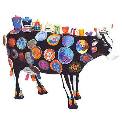 Cow Parade -Kansas City 2001, Artiste Meredith Mc Cord - The Moo Potter-46368