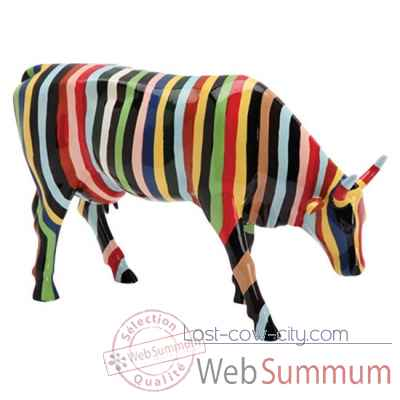 Cow Parade -New York 2000, Artiste Cary smith - Striped-20112 -3